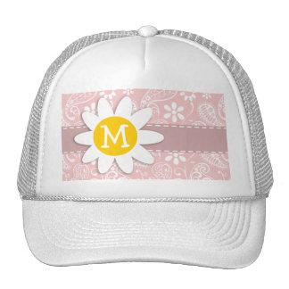 Baby Pink Paisley; Daisy Trucker Hat