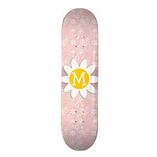 Baby Pink Paisley Daisy Skateboards