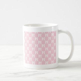 Baby Pink Pastel With White Bows Coffee Mug