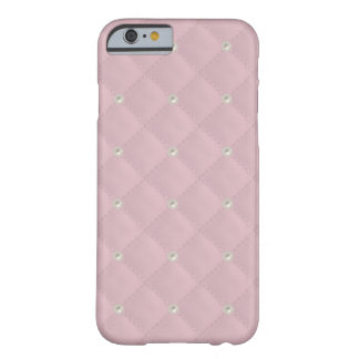 Baby Pink Pearl Stud Quilted Barely There iPhone 6 Case