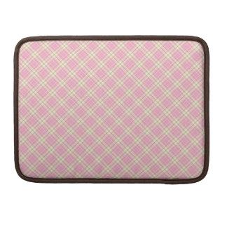 Baby pink plaid MacBook pro sleeve