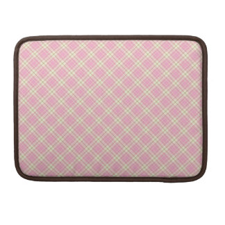 Baby pink plaid sleeve for MacBook pro