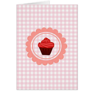 Baby Pink Squared heart design Greeting Card