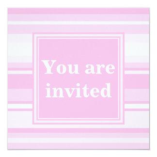 Baby pink stripes invitation