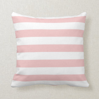 Baby Pink Stripes; Striped Throw Pillow