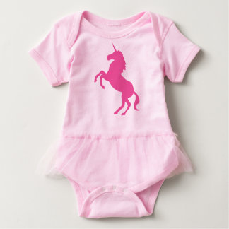 Baby Pink Unicorn Tutu Bodysuit
