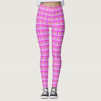 Baby Pink Yoga Decorative stylish pattern design Leggings