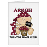 Baby Pirate 1st Birthday Tshirts and Gifts Greeting Card