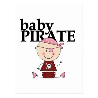 Baby Pirate - Girl Tshirts and Gifts Postcard