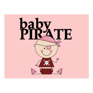 Baby Pirate - Girl Tshirts and Gifts Postcards