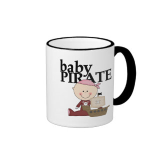 Baby Pirate Girl With Ship Tshirts and Gifts Mugs