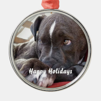 Baby Pitbull Puppy Christmas Ornament