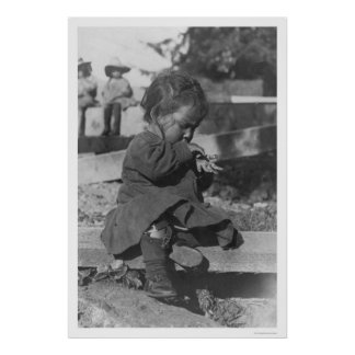Baby Playing in Nome 1906 Print