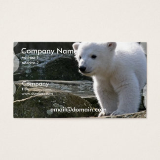 Baby Polar Bear Business Card