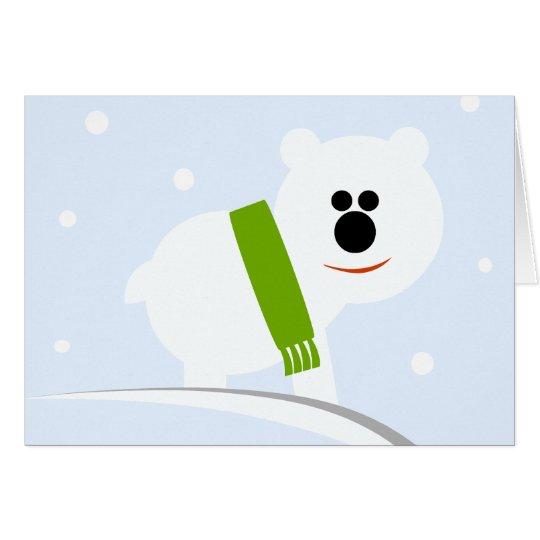 Baby Polar Bear Holiday Greeting Christmas Card
