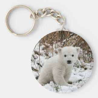 Baby Polar Bear Key Ring