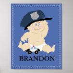 Baby POLICE OFFICER Nursery Room Art Print Gift