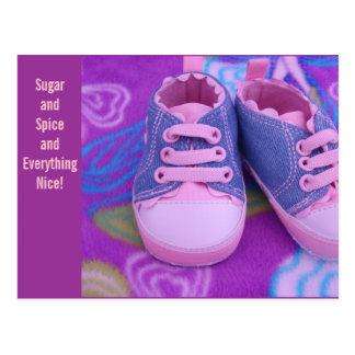 Baby postcards Sugar Spice Everything Nice