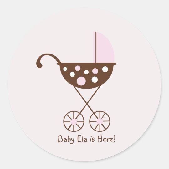 Baby Pram Mod Sticker Pink