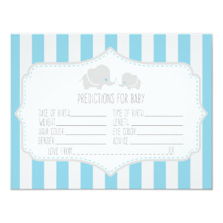 Baby Predictions - Baby Shower Game Card