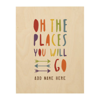Baby Pride | Places you will go | Rainbow Colours Wood Wall Decor
