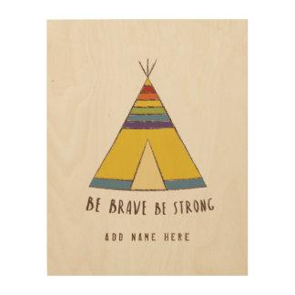 Baby Pride | Rainbow Teepee Wood Prints