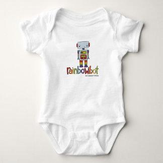 Baby Pride   Rainbowbot Robot   Rainbow Colours Baby Bodysuit