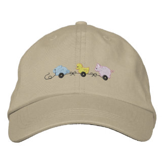 Baby Pull Toys Embroidered Baseball Cap