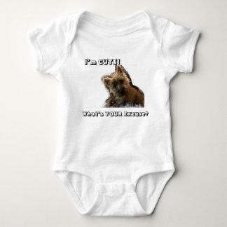 Baby Puppy Too Cute! Baby Bodysuit