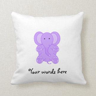 Baby purple elephant cushion