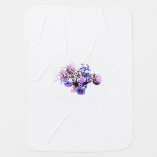 Baby purple mini flowers baby blanket