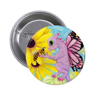 Baby Purple Pink Dragon Fairy Bee Friend Daisy 6 Cm Round Badge