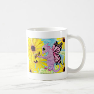 Baby Purple Pink Dragon Fairy Bee Friend Daisy Coffee Mug