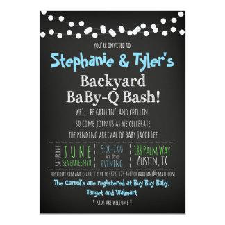 BaBy-Q BBQ Baby Boy Shower Invitation Book Card