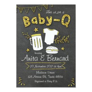 Baby Q Coed baby shower invitation