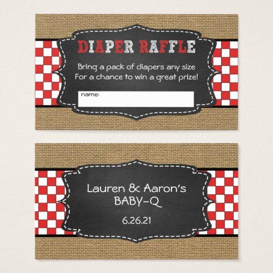 Baby Q Diaper Raffle Tickets / neutral baby shower