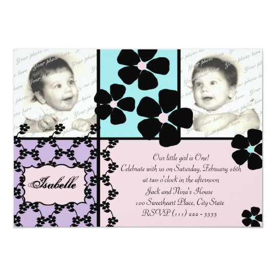 Baby Quilt and Flowers Card