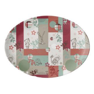 Baby Quilt Pattern 2 Porcelain Serving Platter