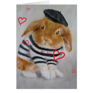 Baby Rabbit Valentine's Day Card