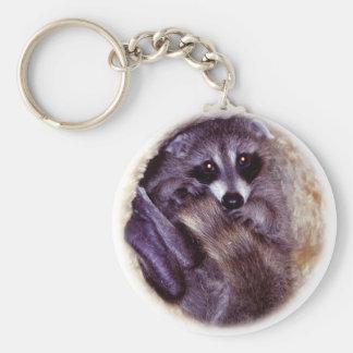 Baby Raccoon Key Ring
