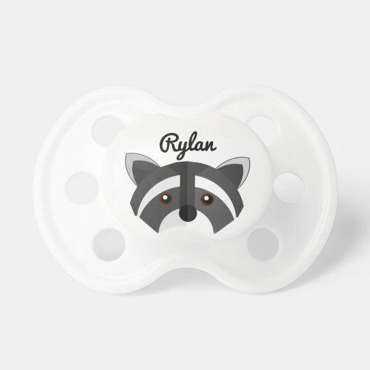 Baby Racoon Personalised Name Pacifier