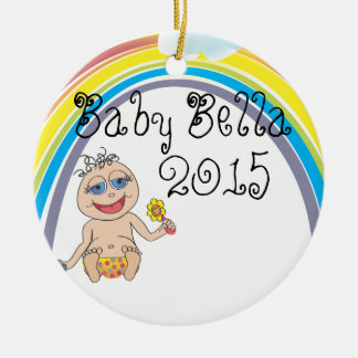 Baby Rainbow Cartoon Christmas Ornament