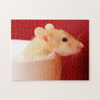 Baby rat in teacup. jigsaw puzzle