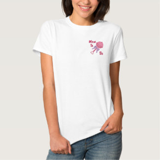 Baby Rattle - Pink Embroidered Shirt