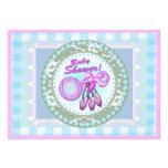 Baby Rattle Template Card Custom Invitation