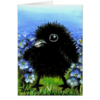 Baby raven card