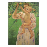 Baby Reaching for an Apple by Mary Cassatt Greeting Card
