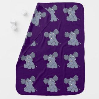 Baby Receiving Blanket cute elephant purple