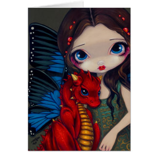 """Baby Red Dragon"" Greeting Card"