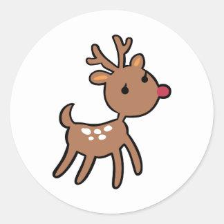 Baby Reindeer Round Sticker